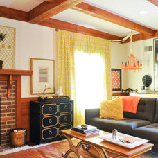 Eclectic Family Room by CM Glover