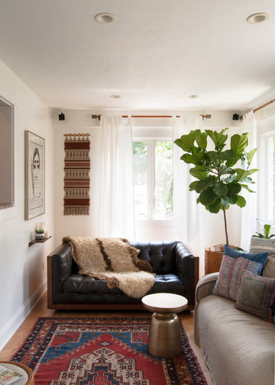 Eclectic Family Room by Adrienne DeRosa