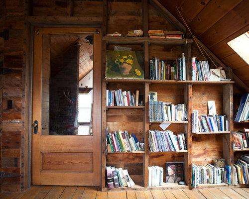 Bookshelves In Attic Home Design Ideas Pictures Remodel