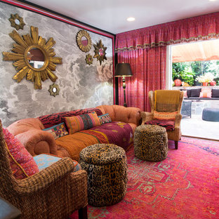 Family room - eclectic family room idea in Los Angeles