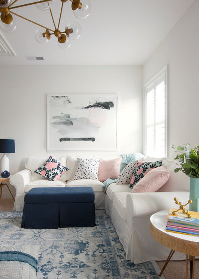 Traditional Family Room by Margaret Wright Photography