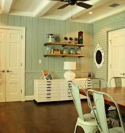 Transitional Family Room by Mina Brinkey