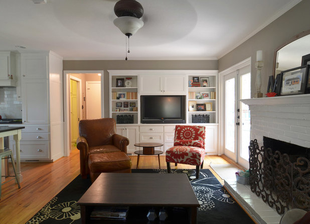 Traditional Family Room by Sarah Greenman