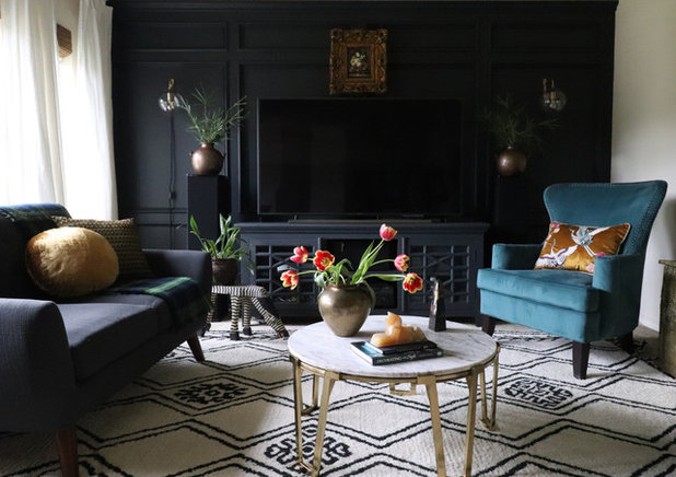 Eclectic Family Room by Kristin Laing