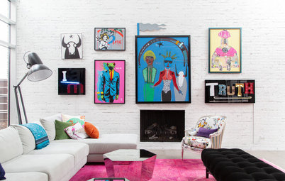 Pop Art & Bright Colours Add Cheer to This Expansive, Eclectic Home