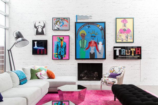 Eclectic Family Room by Rachel Loewen Photography