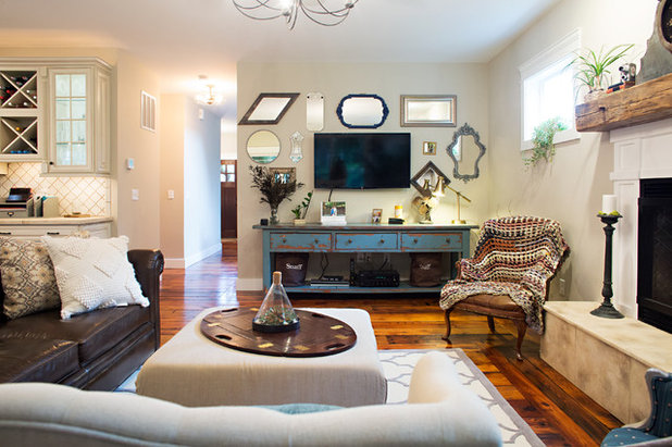 Farmhouse Family Room by Parisi Images
