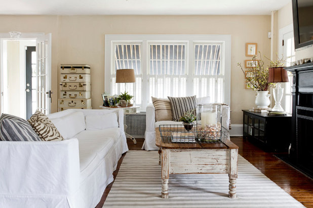 Shabby-chic Style Family Room by Rikki Snyder
