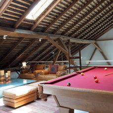 Farmhouse Family Room by Adrienne DeRosa