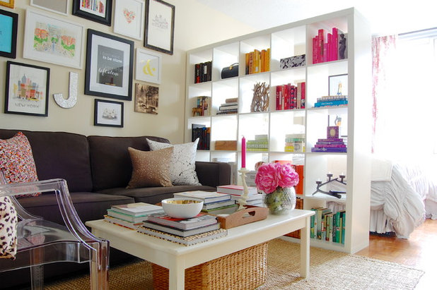 Transitional Family Room by Corynne Pless