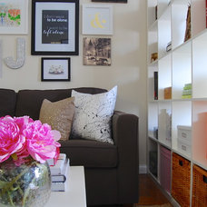 Eclectic Family Room by Corynne Pless