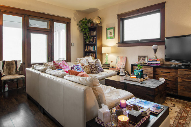 Eclectic Family Room by Lucy Call