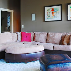 Beach Style Family Room by Corynne Pless