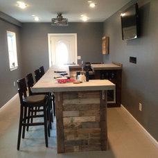 Contemporary Family Room My new bar room