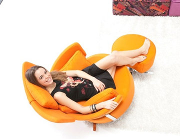 MyKiwi Swivel Rocking Arm Chair by Famaliving California