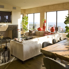 Modern Family Room by Nadia Designs
