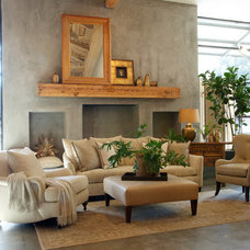 Traditional Family Room by Nan Tofanelli