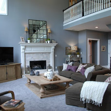 Traditional Family Room by Two Birds