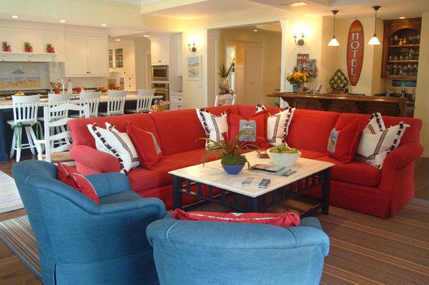 Beach Style Family Room by Darci Goodman Design