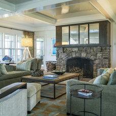Beach Style Family Room by Stedila Design