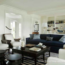 Traditional Family Room by Barbara Waltman Design