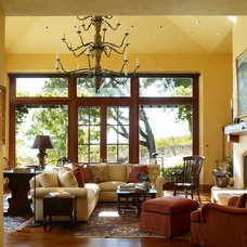 Mediterranean Family Room by Remick Associates Architects + Master Builders