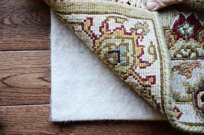 Rustic Family Room by Eco Rug Pads