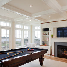 Traditional Family Room by Concept Building