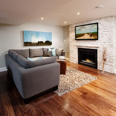 Contemporary Family Room by Realstone Systems