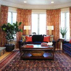 Traditional Living Room by bossy color | Annie Elliott interior design