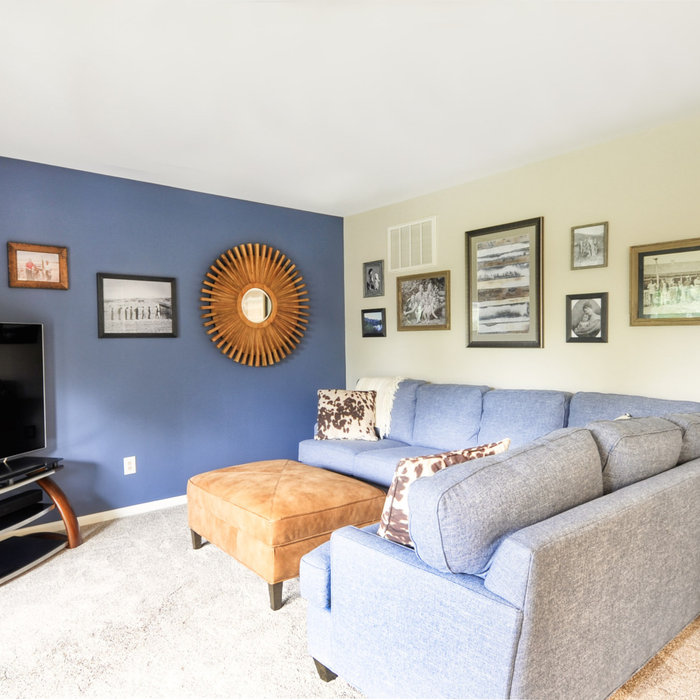 Blue Family Room With History