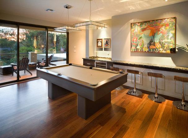 Modern Family Room by Phil Kean Design Group