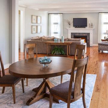 Neo New England Coastal Living Room