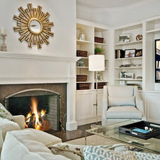 Traditional Family Room by CSR Interiors Inc.