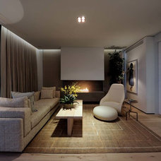 Contemporary Family Room by Peerutin Architects