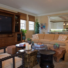 traditional family room by mark cutler