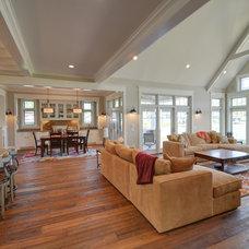Craftsman Family Room by Jamee Parish Architects, LLC