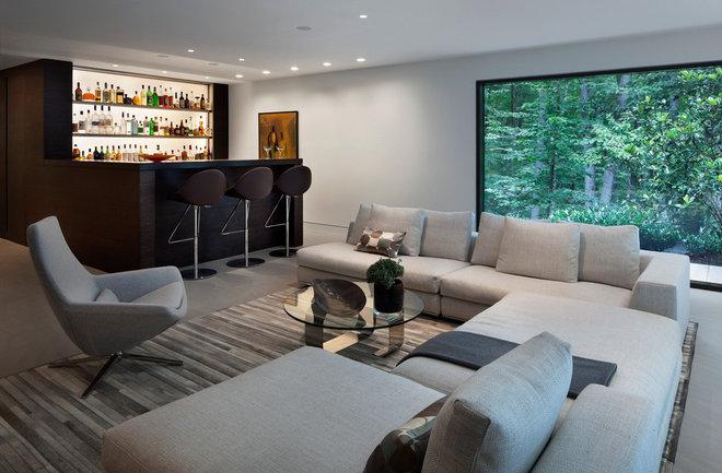 Modern Family Room by Specht Harpman Architects