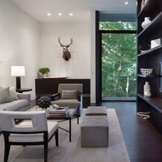 Modern Family Room by Specht Harpman Architects
