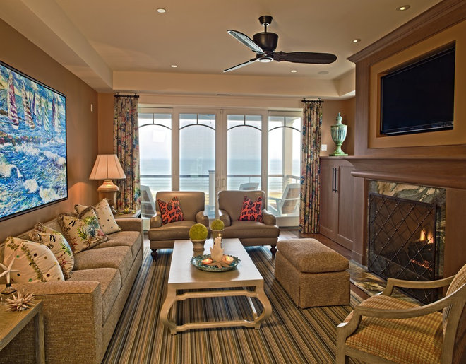 Contemporary Family Room by Dewson Construction Company
