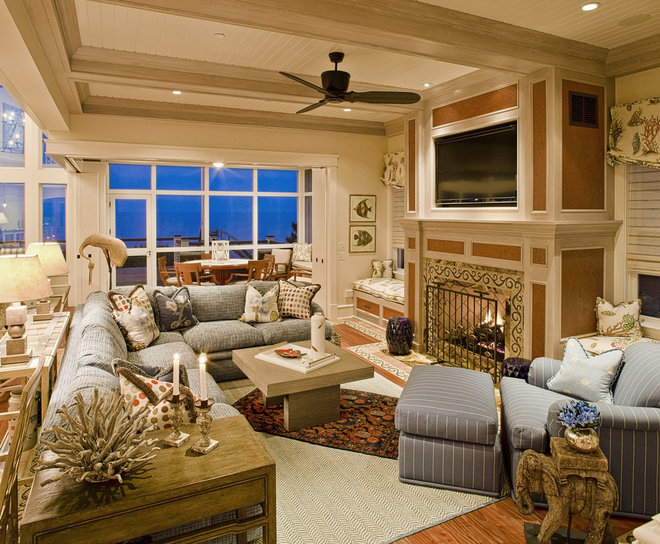 Traditional Family Room by Dewson Construction Company