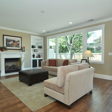 Contemporary Family Room by Cathy Lee, C.L. Design Services Home Staging