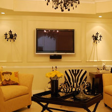 contemporary family room by Sienna Blanca Design, Inc.