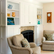 Traditional Family Room by Celia Bedilia