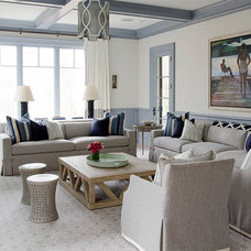 Beach Style Family Room by Noelle Micek Interiors