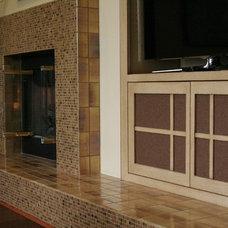 Transitional Family Room by Vicki Blakeman Interior Design