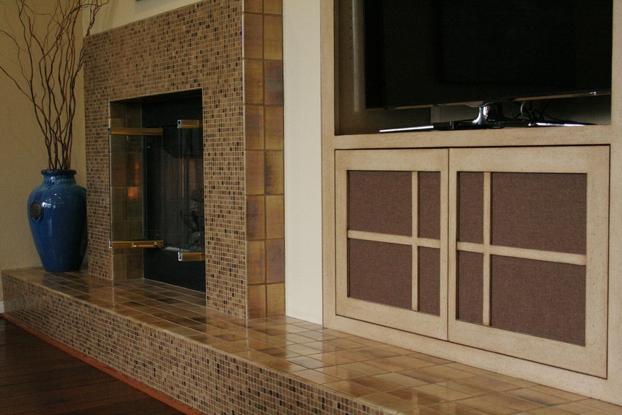 NEW FIREPLACE and CABINET DESIGN
