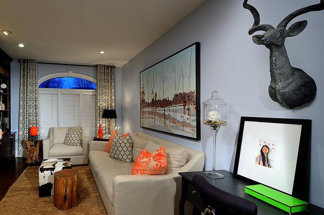 Eclectic Family Room by Belinda Albo Design Studio