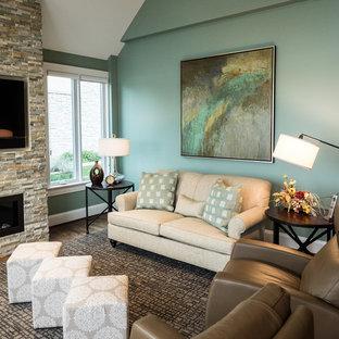 New Home Interior - Hearth/Family Room