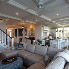 Beach Style Family Room by HC Design